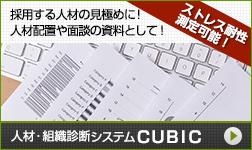 人材・組織診断システムキュービック